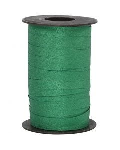 Ruban cadeau, L: 10 mm, paillettes, vert, 100 m/ 1 rouleau