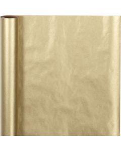 Papier cadeau, L: 50 cm, 60 gr, or, 5 m/ 1 rouleau