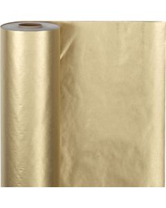Papier cadeau, L: 50 cm, 60 gr, or, 100 m/ 1 rouleau