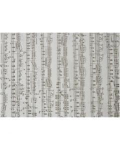 Papier parchemin avec notes de musique, Notes de musique, A4, 210x297 mm, 115 gr, 10 flles/ 1 Pq.