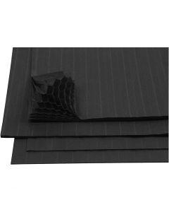 Papier Concertina, 28x17,8 cm, noir, 8 flles/ 1 Pq.