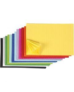 Papier nid d'abeille, 28x17,8 cm, couleurs assorties, 72 pièce/ 1 Pq.