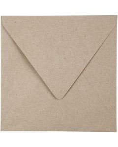 Enveloppes recyclées, dimension enveloppes 16x16 cm, 120 gr, naturel, 50 pièce/ 1 Pq.
