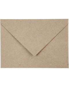 Enveloppes recyclées, dimension enveloppes 11,5x16 cm, 120 gr, beige, 50 pièce/ 1 Pq.
