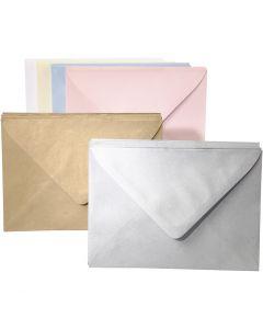 Enveloppes couleur, couleurs assorties, 120 pièce/ 1 Pq.