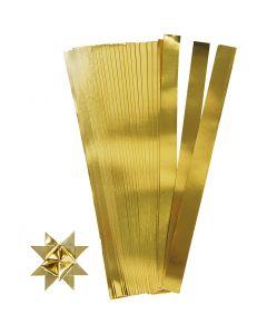 Bandes de papier étoiles, L: 73 cm, d: 11,5 cm, L: 25 mm, or, 100 bandes/ 1 Pq.