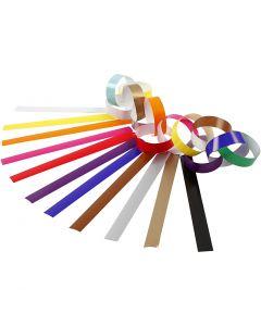 Guirlande en papier, L: 16 cm, L: 15 mm, couleurs assorties, 2400 pièce/ 1 Pq.