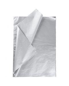 Papier de soie, 50x70 cm, 14 gr, argent, 25 flles/ 1 Pq.