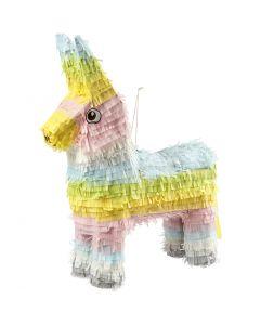 Piñata pour occasion festive, dim. 39x13x55 cm, couleurs pastel, 1 pièce
