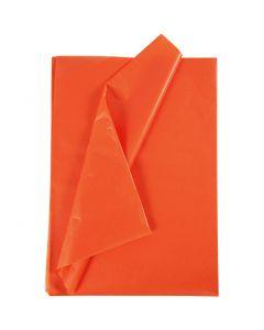 Papier de soie, 50x70 cm, 17 gr, orange, 25 flles/ 1 Pq.