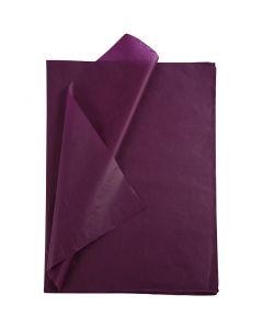Papier de soie, 50x70 cm, 14 gr, bordeaux, 25 flles/ 1 Pq.