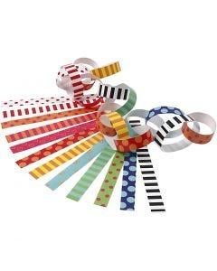 Guirlande en papier, L: 16 cm, L: 15 mm, couleurs assorties, 400 pièce/ 1 Pq.