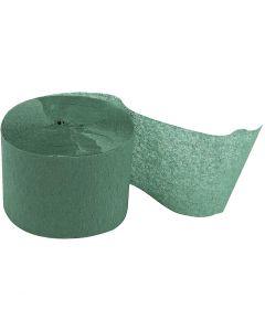 Papier crépon, L: 20 m, L: 5 cm, vert, 20 rouleau/ 1 Pq.