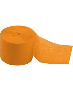 Papier crépon, L: 20 m, L: 5 cm, jaune, 20 rouleau/ 1 Pq.