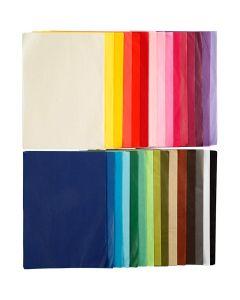 Papier de soie, A4, 210x297 mm, 14 gr, 30x10 flles/ 1 Pq.