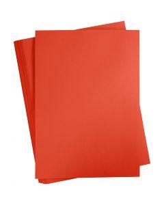 Papier cartonné coloré, A2, 420x600 mm, 180 gr, rouge vif, 100 flles/ 1 Pq.