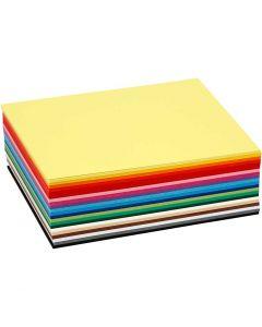 Papier cartonné Colortime, A6, 105x148 mm, 180 gr, couleurs assorties, 120 flles ass./ 1 Pq.