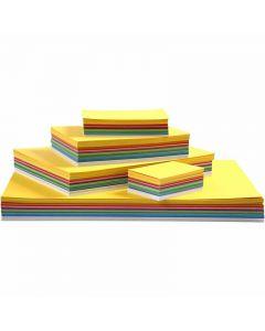 Papier cartonné printemps, A2,A3,A4,A5,A6, 180 gr, couleurs assorties, 1800 flles ass./ 1 Pq.
