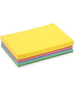 Papier cartonné printemps, A5, 148x210 mm, 180 gr, couleurs assorties, 300 flles ass./ 1 Pq.