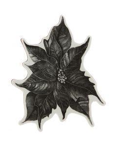 Tampon caoutchouc, poinsettia, H: 5 mm, dim. 14x11 cm, 1 flles