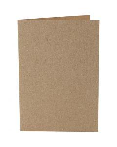 Cartes, dimension carte 10,5x15 cm, 220 gr, naturel, 10 pièce/ 1 Pq.