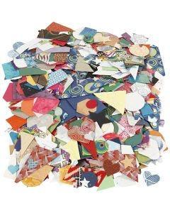 Découpes de papier fait main, dim. 25-130 mm, 110 gr, 500 gr/ 1 Pq.
