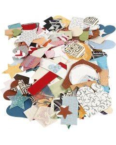 Découpes de papier fait main, dim. 25-130 mm, 110 gr, 100 gr/ 1 Pq.