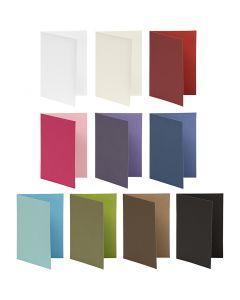 Carte de voeux, dimension carte 10,5x15 cm, Le contenu peut varier , 250 gr, couleurs assorties, 30 Pq./ 1 Pq.