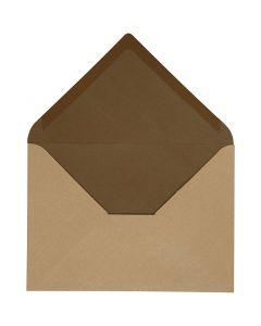 Enveloppe, dimension enveloppes 11,5x16 cm, 100 gr, sable/brun, 10 pièce/ 1 Pq.