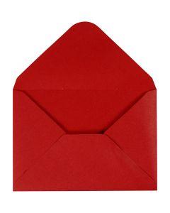Enveloppe, dimension enveloppes 11,5x16 cm, 110 gr, rouge, 10 pièce/ 1 Pq.