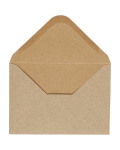 Enveloppe, dimension enveloppes 11,5x16 cm, 110 gr, naturel, 10 pièce/ 1 Pq.