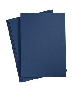 Papier cartonné, A4, 210x297 mm, 220 gr, bleu, 10 pièce/ 1 Pq.