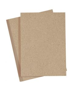 Papier cartonné, A4, 210x297 mm, 220 gr, naturel, 10 pièce/ 1 Pq.