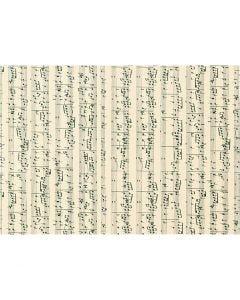 Papier cartonné, notes de musique, A4, 210x297 mm, 180 gr, 10 flles/ 1 Pq.