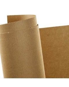 Carton ondulé, 50x70 cm, 120 gr, 10 flles/ 1 Pq.