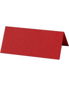 Marque-place, dim. 9x4 cm, 220 gr, rouge, 10 pièce/ 1 Pq.