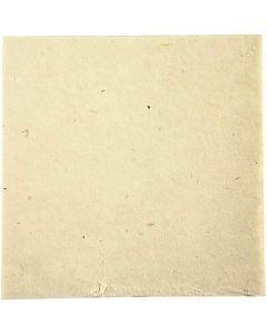 Papier fait main, 20x20 cm, 70 gr, blanc cassé, 10 flles/ 1 Pq.