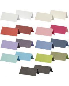 Marque-place, dim. 9x4 cm, Le contenu peut varier , 250 gr, couleurs assorties, 30 Pq./ 1 Pq.