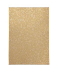 Papier, A4, 210x297 mm, 80 gr, or, 20 flles/ 1 Pq.