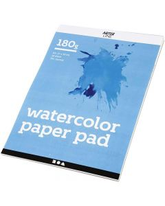 Bloc de papier aquarelle, A4, 210x297 mm, 180 gr, blanc, 20 flles/ 1 pièce