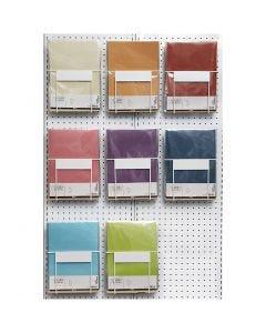 Papier vélin, A4, 210x297 mm, 100 gr, couleurs assorties, 8x10 Pq./ 1 Pq.