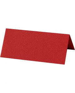 Marque-places, dim. 9x4 cm, 220 gr, rouge, 20 pièce/ 1 Pq.