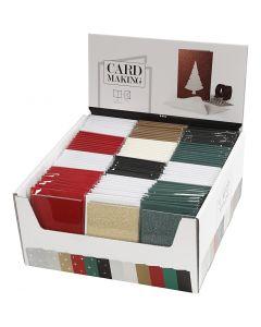 Cartes et enveloppes, dimension carte 10,5x15 cm, dimension enveloppes 11,5x16,5 cm, 120 set/ 1 Pq.