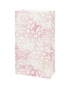 Sac en papier, aquarelle, H: 21 cm, dim. 6x12 cm, 80 gr, 8 pièce/ 1 Pq.