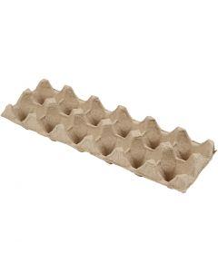 Boîtes à oeufs, H: 5 cm, L: 30,5 cm, L: 11 cm, 3 pièce/ 1 Pq.