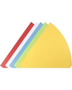 Cônes, H: 68 cm, d: 20 cm, couleurs assorties, 5 pièce/ 1 Pq.