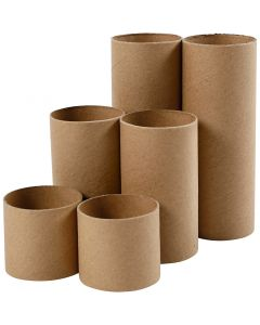 Rouleaux de papier toilette, L: 4,7+9,3+14 cm, d: 5 cm, 6 pièce/ 1 Pq.