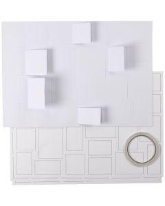 Calendrier de Noël , dim. 30x42 cm, blanc, 5 pièce/ 1 Pq.