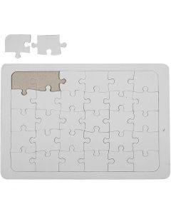 Puzzles à décorer, blanc, 1 pièce