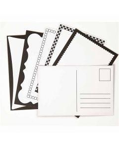 Cartes postales, dimension carte 10x15 cm, 300 gr, blanc cassé, 5x2 pièce/ 1 Pq.